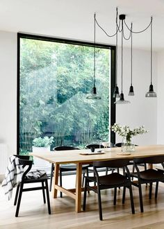 Black, White and Wood Make the Perfect Dining Room