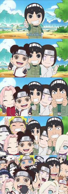 <3 Shino, Kiba, Akamaru, Sai, Hinata, Sakura, Tenten, Naruto, Kakashi, Lee, Neji, Ino, Gai, Choji, Shikamaru & Yamato