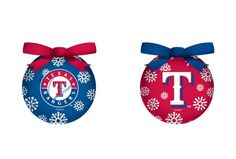 Texas Rangers LED Box Set Ornaments (backorder)