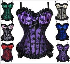 Sexy Bustier Strap Corset with G-String 6 Colors S-XXL. Starting at $15 on Tophatter.com!