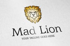 Mad Lion logo by vectorlogos89 on Creative Market