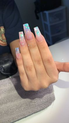 Gorgeous Nails, Pretty Nails, Acryl Nails, Exotic Nails, Transparent Nails, Fire Nails, Best Acrylic Nails, Acrylic Nails Coffin Ombre, Neon Nails