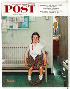 Original Antique Norman Rockwell Saturday Evening Post Cover: This is my all time favorite Normal Rockwell. It reminds me of the importance of taking chances.