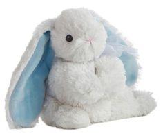 "11"" Aurora Baby Plush White Rabbit ""Bop Bunny Blue"" Easter Stuffed Animal Toy | eBay"