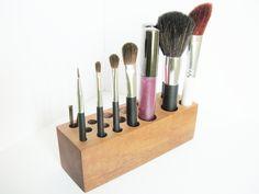 Wooden Organizer Makeup Brushes Holder Bathroom par FindsofaKind
