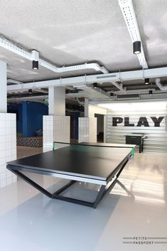 The Student Hotel Den Haag by Petite Passport Games Room Inspiration, Hangout Room, Student House, Corporate Interiors, Game Room Decor, Dream House Exterior, Ping Pong Table, Door Design, Furniture Making