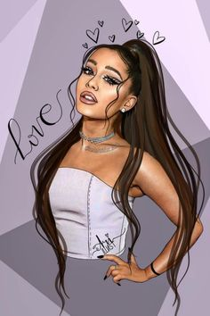 Since Ariana Grande blessed us with her new hit single 7 Rings, it's only right we bless you with 7 Ariana Grande fan art masterpieces Ariana Grande Images, Ariana Grande Linda, Ariana Grande Anime, Ariana Grande Drawings, Ariana Grande Fans, Cute Girl Drawing, Cartoon Girl Drawing, Girl Cartoon, Cartoon Art
