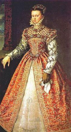 4a22e493152b81 la reina isabel de valois - Google Search Tudor Era, Historical Clothing,  Medieval Clothing