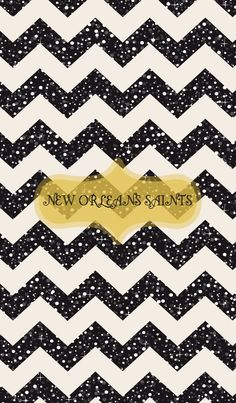 New Orleans Saints iphone wallpaper black glitter chevron