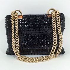 A personal favorite from my Etsy shop https://www.etsy.com/listing/227623910/whiting-davis-co-bags-black-mesh