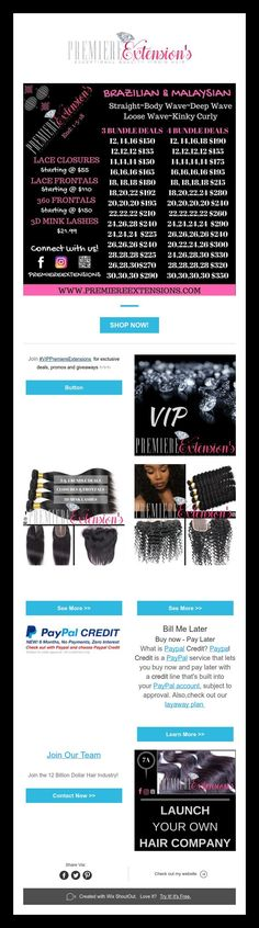 ***Huge Announcement***  3 Bundle Deals Staring @ $135  #shop #beauty #fashion #glam #style #girl #hair #makeup
