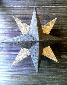 [DIY] Zauberhafter Deko Papierstern In this guide I will show you step by step how you can make g Paper Ornaments, Ornament Crafts, 3d Christmas, Christmas Pictures, Christmas Ornament, Paper Decorations, Christmas Decorations, Christmas Bathroom Decor, Star Diy