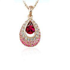 TR.OD Angel Tears Crystal Rhinestone Water Droplets Teardrop Pendant Long Chain Wedding Necklace Jewelry Pink HITTIME http://www.amazon.co.uk/dp/B00SR38TD2/ref=cm_sw_r_pi_dp_yDh4vb148AVRT