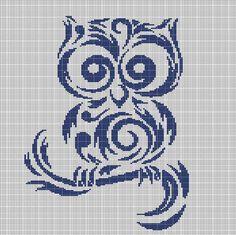 TRIBAL+OWL+CROCHET+AFGHAN+PATTERN+GRAPH