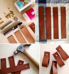 leather pulls & belt shelves