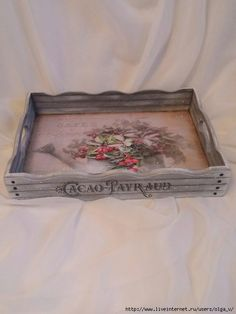 Painted Trays, Hand Painted, Home Crafts, Diy And Crafts, Decoration Shabby, Shaby Chic, Arte Popular, Projects To Try, Crafty