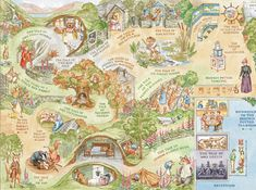 Illustrated map for the World of Beatrix Potter Attraction ...