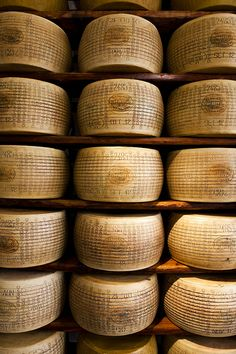 Reggiano Parmigiano ~ It has existed since the middle ages in a form similar to the one today. It is the best cheese in the world. Punto e basta.