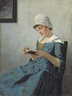 Ernst Anders (1845 - 1911) - A quiet read