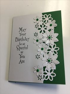 Any Occasion Handmade Multi Paper Layered Greeting CardLike that lovely floral dieBeautiful handmade card created using the Crafter's Companicard ideas using embossing foldersSuzy Smith's media statistics and analytics Making Greeting Cards, Greeting Cards Handmade, 1st Birthday Cards, Birthday Verses, 80th Birthday, 123 Cards, Beautiful Birthday Cards, Crafters Companion Cards, Spellbinders Cards
