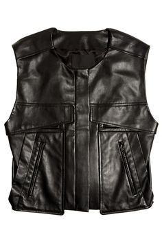 Alexander Wang Cropped leather vest