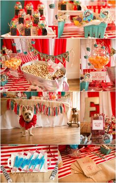 Vintage Circus theme first birthday party