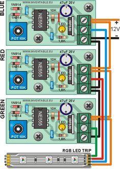 Regulador para tiras de LEDS con 555 | Inventable