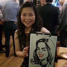 Christmas party  caricature artist London