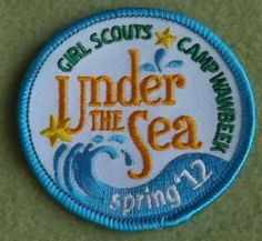 Girl Scouts Wisconsin Badgerland 100th anniversary year patch. Camp Wawbeek Under the Sea 2012