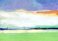 SALE - Original Oil Painting, Abstract Landscape 7x5. $55.00, via Etsy.