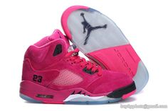Women's Air Jordan AJ5 Jordan 5 Basketball Shoes A  Suede Pink|only US$89.00 - follow me to pick up couopons.