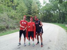 Mabie boyz taking a break from hill repeats. Awesomeness abounds.