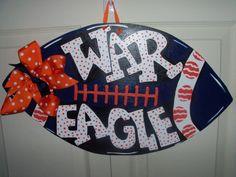 Footbal Door Hanger by ThePaisleyPersimmon on Etsy, $40.00