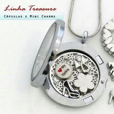 Confira nossas cápsulas,  discos e mini charms que chegaram ao site.  #cupidolovestore #linhatreasure #charms #capsulas #lifesecrets