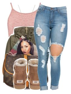 """3/6/16"" by xtaymaxlovesxmisfitx ❤ liked on Polyvore featuring Boohoo, H&M, Paul Brodie, Louis Vuitton, UGG Australia and Gucci"
