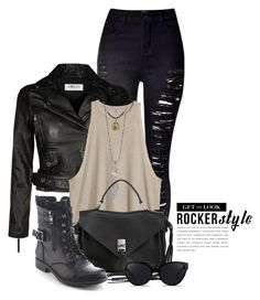 """""""Rocker Chic 1940"""" by boxthoughts ❤ liked on Polyvore featuring WithChic, Rebecca Minkoff, Refresh, 3.1 Phillip Lim, rockerchic and rockerstyle"""