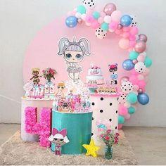 Birthday Party Table Decorations, Birthday Party Tables, Party Themes, Ideas Party, Sleepover Birthday Parties, Themed Parties, Doll Party, Lol Dolls, Decorating Ideas