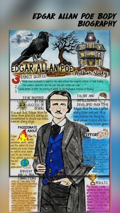 Edgar Allan Poe, Scariest Monsters, 8th Grade Ela, Poetry Lessons, Becoming A Teacher, American Literature, High School Students, Teaching Tips, Short Stories