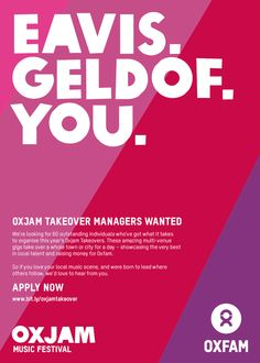 Oxjam Takeover Manager recruitment ad