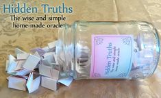 Hidden Truths – The wise and simple home-made oracle set - Find a jar and fill it with great treasure. 79 oracle cards for instant download.