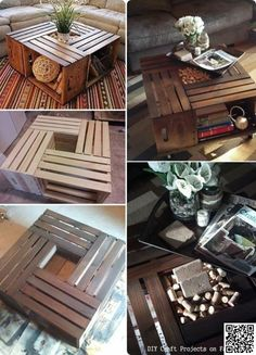 2. #Coffee Table - 45 DIY #Pallet Crafts to #Spiff up Your Entire Home ... → DIY #Coolest