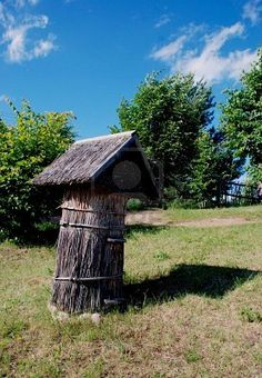 Bee Hive in Lithuanian country side