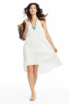 Calypso St. Barth Linen Cascade Dress