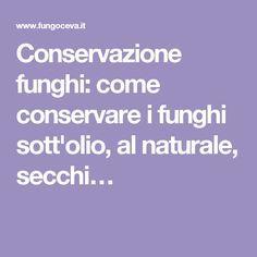 Conservazione funghi: come conservare i funghi sott'olio, al naturale, secchi…