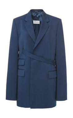 Maison Margiela Wrap-Effect Crepe Blazer Blazers For Women, Coats For Women, Jackets For Women, Women Blazer, Women's Jackets, Ladies Blazers, Blazer Dress, Blazer Jacket, Casual Outfits