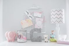 Perfectly styled for a baby girl's room