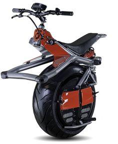 一輪車だけど、絶対倒れない!―セグウェイみたいな一輪のバイク「Ryno」