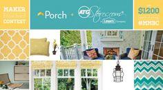 Bloggers, win $1200! Maker Mood Board Contest with Porch & ATGStores.com