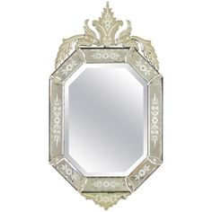 19th Century Napoleon III Venetian Mirror | From a unique collection of antique and modern wall mirrors at https://www.1stdibs.com/furniture/mirrors/wall-mirrors/