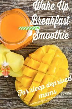 Wake Up Breakfast Smoothie For Sleep Deprived Mums! Pregnancy Nutrition, After Baby, Breakfast Smoothies, Sleep Deprivation, Pregnancy Workout, Best Breakfast, Wake Up, New Recipes, Exercise